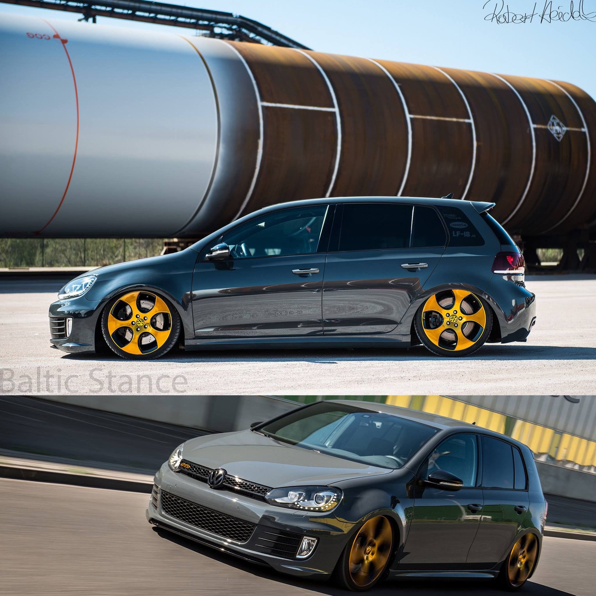 tino s vw golf 6 mit unserem k sport germany air ride. Black Bedroom Furniture Sets. Home Design Ideas