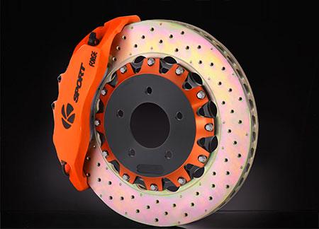 K-Sport Bremsscheibe mit farbig eloxiertem Bremstopf