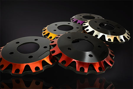 K-Sport Germany: farbig eloxierte Bremstöpfe (Beispiele)