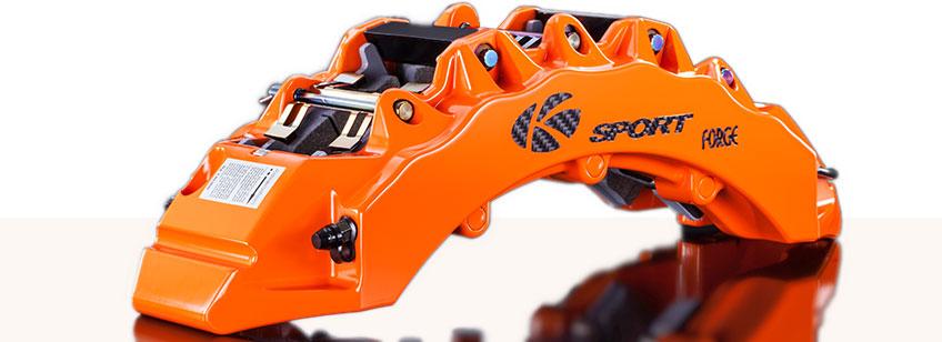 K-Sport Bremsanlage: geschmiedeter Monoblock-Bremssattel